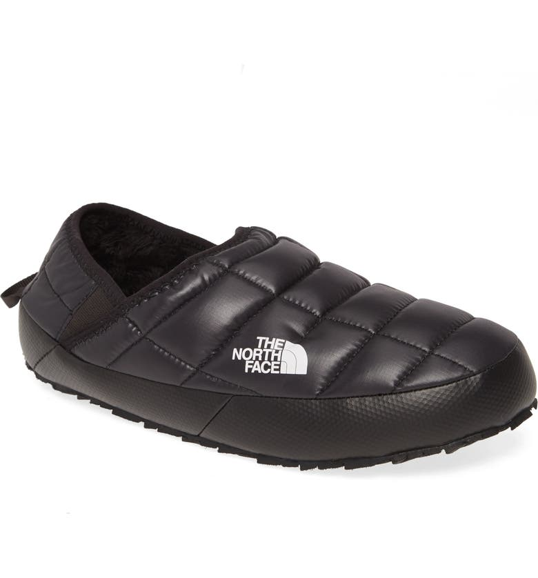 THE NORTH FACE ThermoBall<sup>™</sup> Traction Water Resistant Slipper, Main, color, TNF BLACK/ TNF WHITE