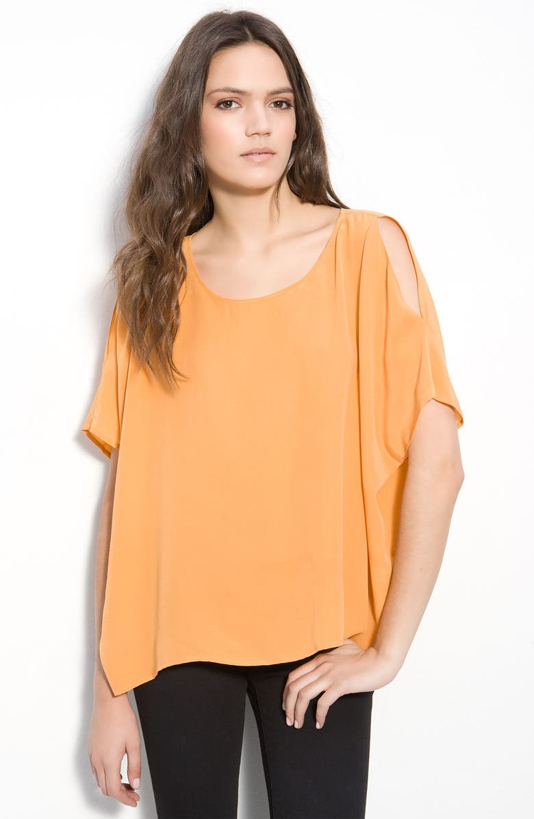 JOIE 'Hiori' Split Sleeve Oversized Silk Top, Main, color, 811