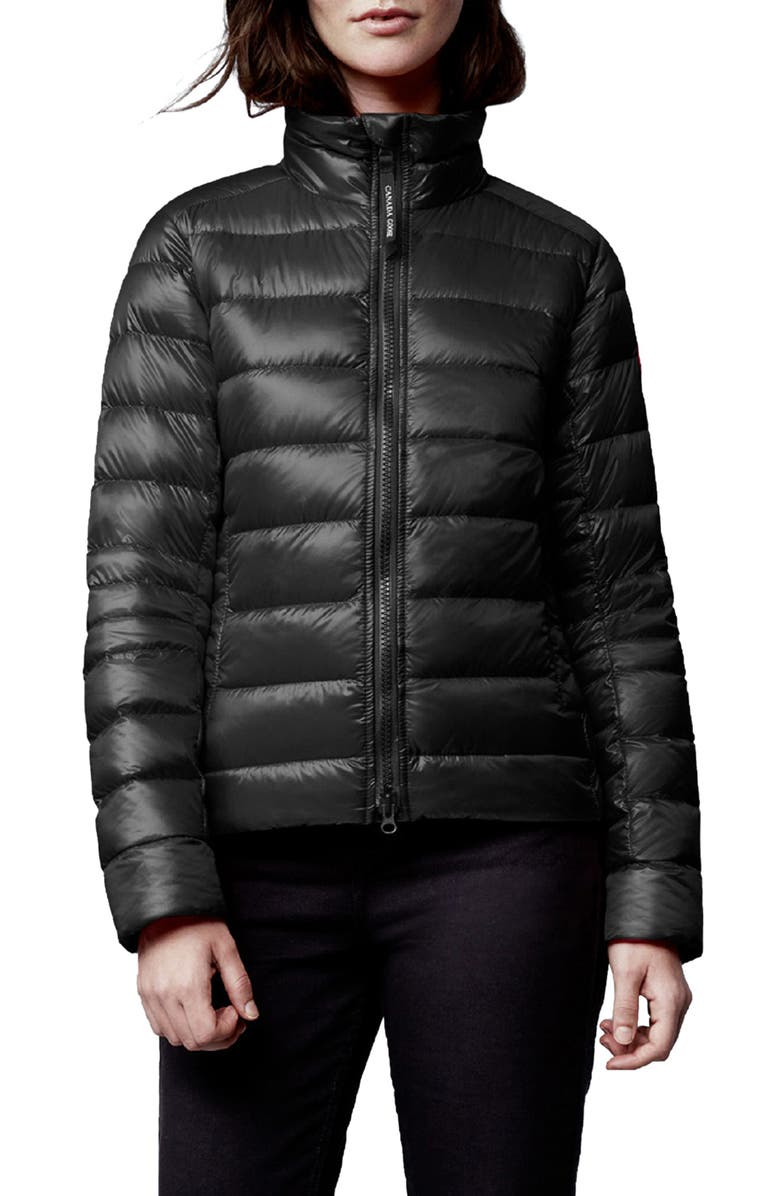 CANADA GOOSE Cypress Packable 750-Fill-Power Down Puffer Jacket, Main, color, BLACK - NOIR