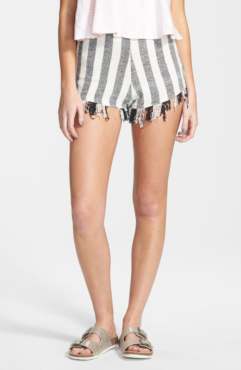 VOLCOM 'Marooned' High Waist Woven Shorts, Main, color, 900