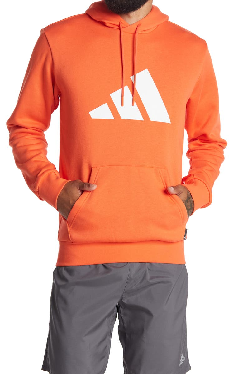 ADIDAS Athletics Pack Graphic Hoodie, Main, color, SEMI SOLAR RED