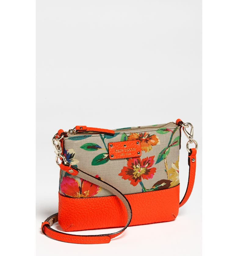 KATE SPADE NEW YORK 'grove court floral - tenley' crossbody bag, Main, color, RED MULTI