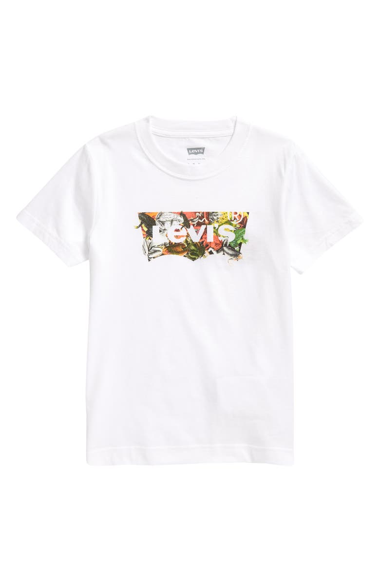 LEVI'S<SUP>®</SUP> Kids' Frog Logo Graphic Tee, Main, color, WHITE