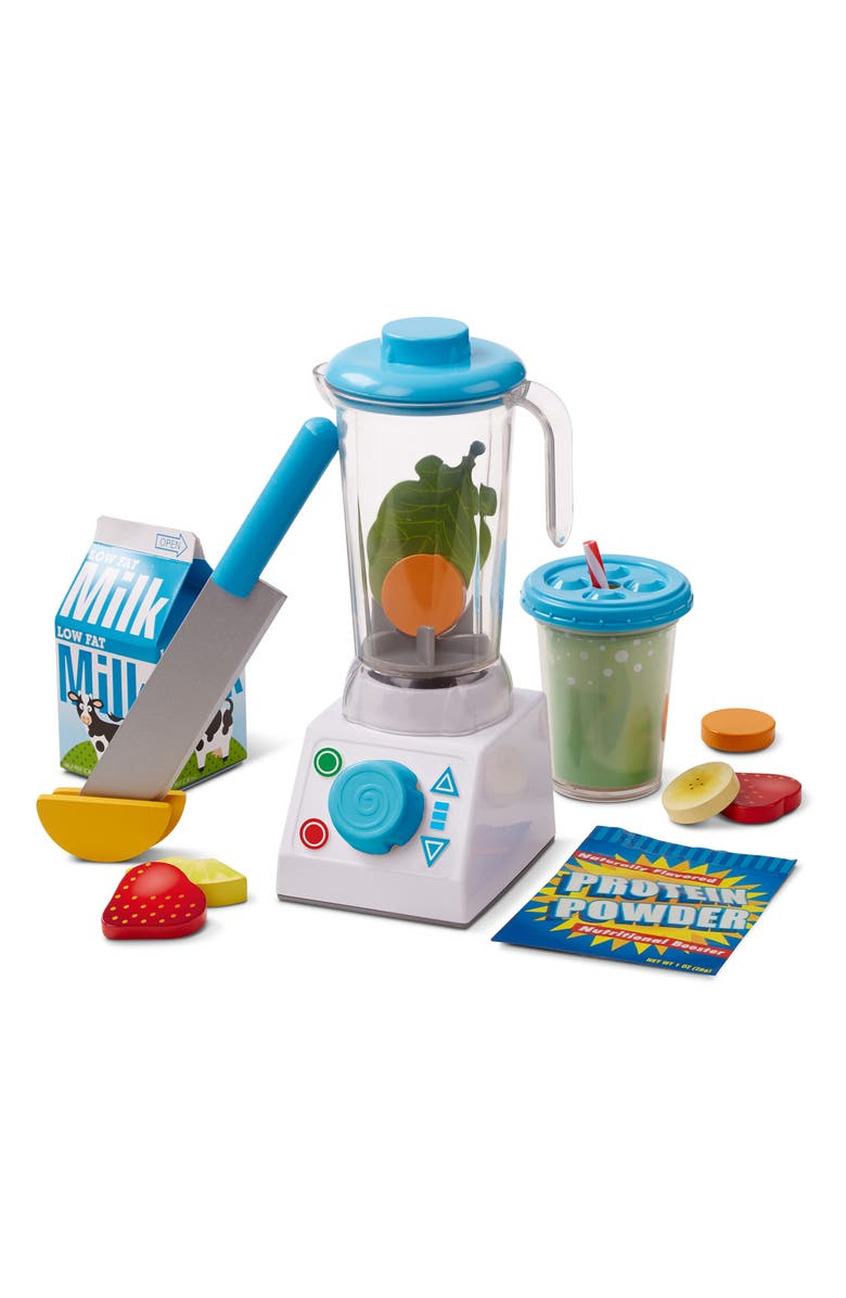 MELISSA & DOUG Smoothie Making Blender Play Set, Main, color, MULTI