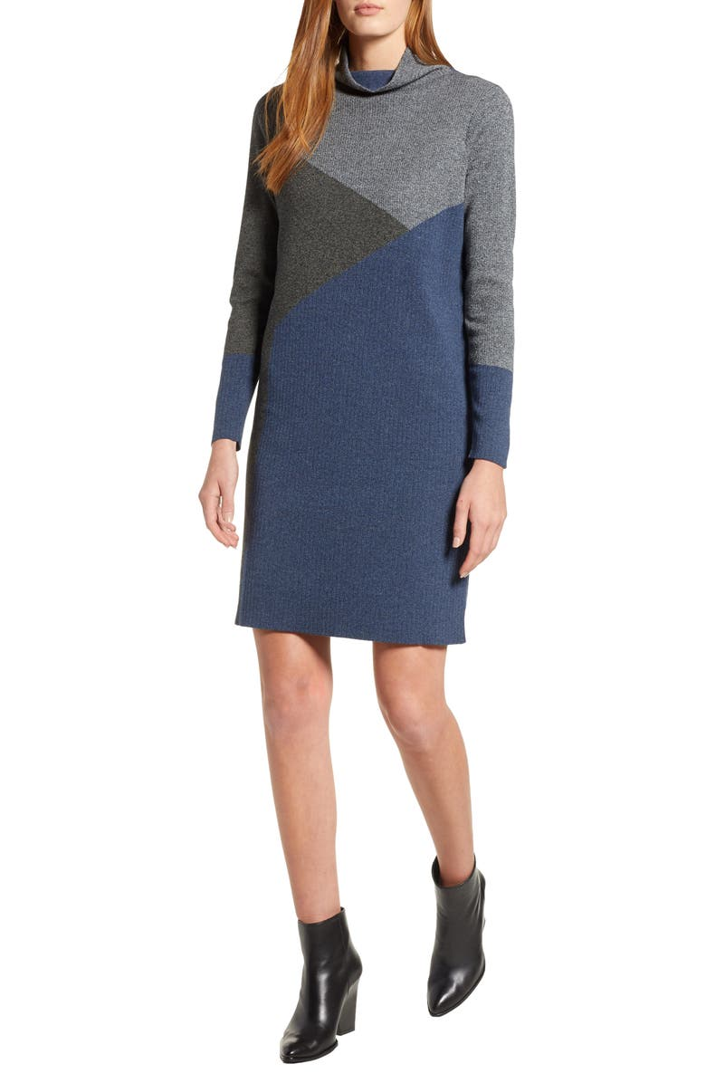NIC+ZOE Laid Back Sweater Dress, Main, color, 090