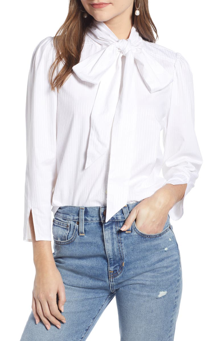 SOMETHING NAVY Removable Bow Top, Main, color, 100