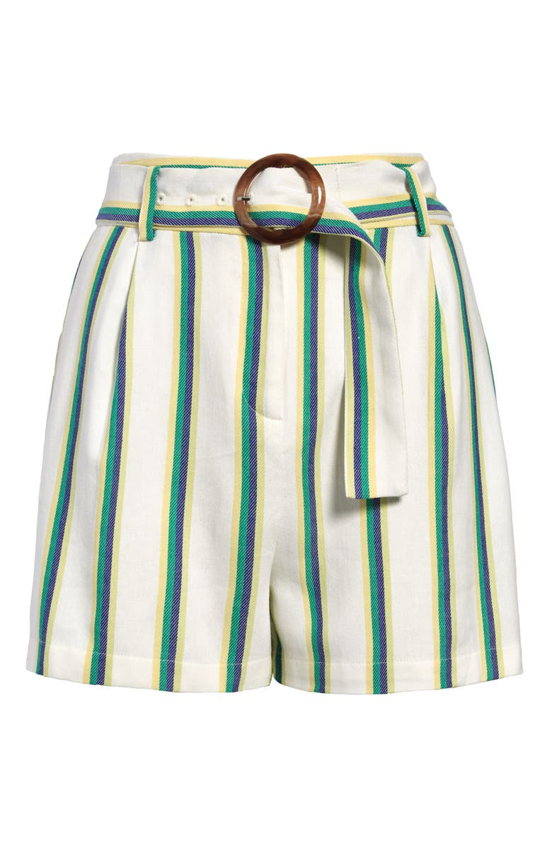 HALOGEN<SUP>®</SUP> Belted Stripe Twill Shorts, Main, color, 900