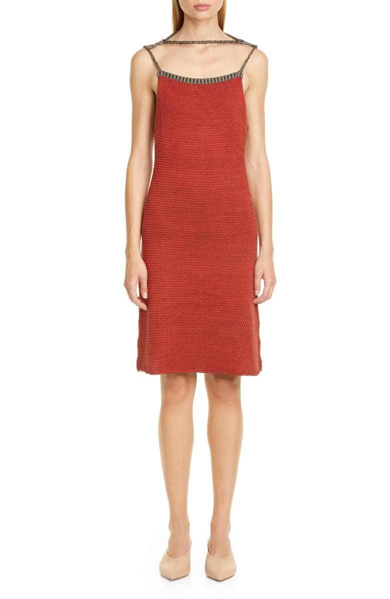 ECKHAUS LATTA Décolleté Sweater Dress, Main, color, 600