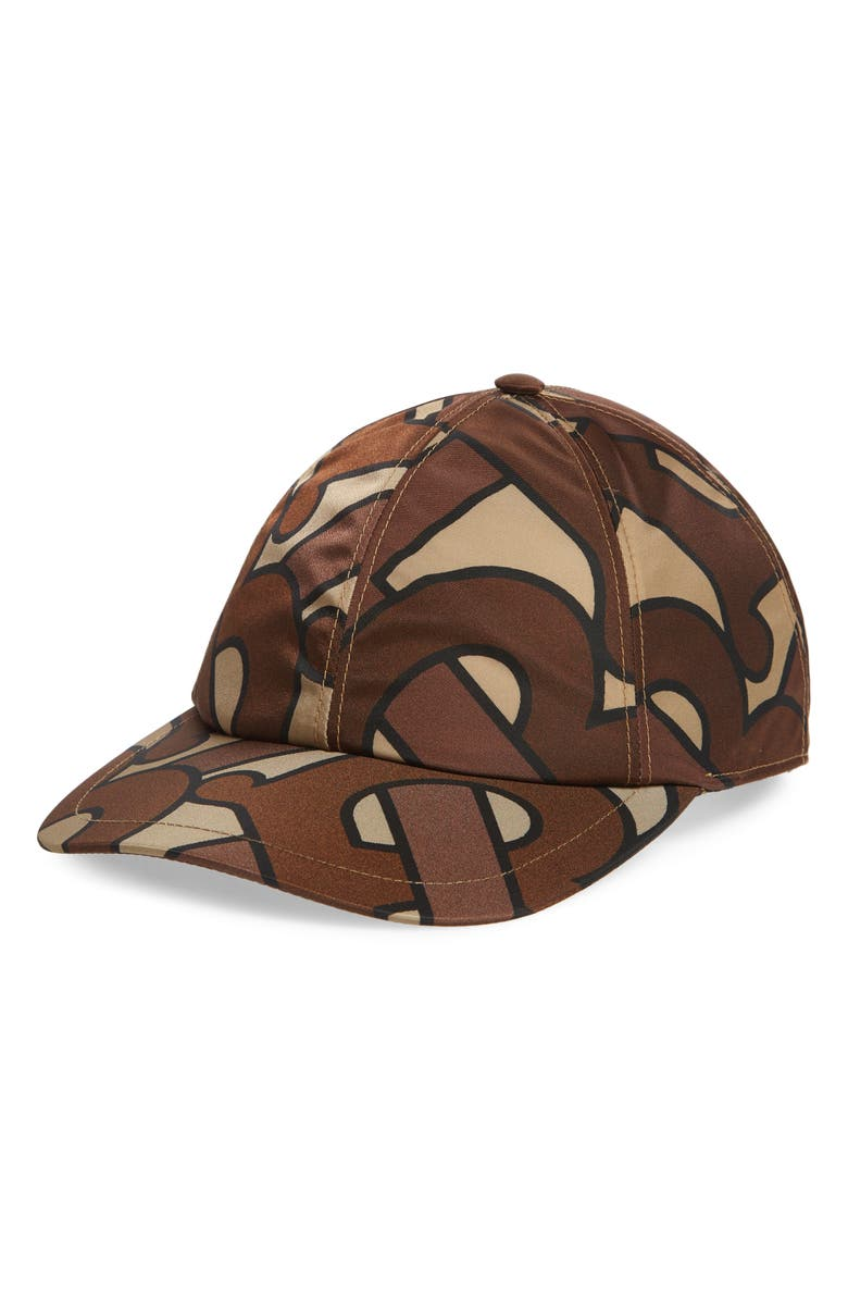 BURBERRY Exploded TB Snapback Baseball Cap, Main, color, 200