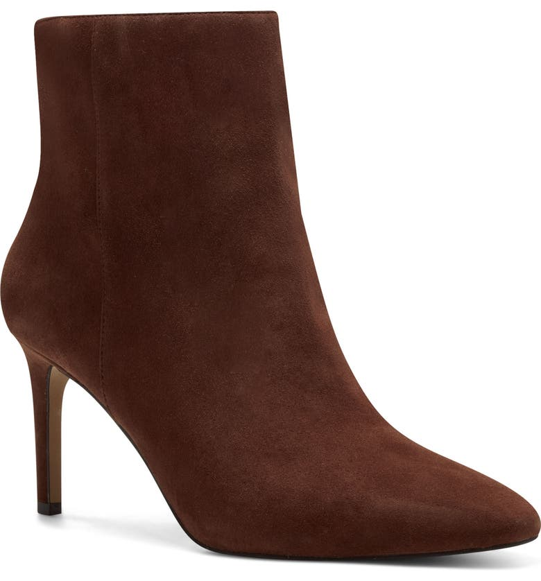 VINCE CAMUTO Allost Pointed Toe Boot, Main, color, DARK BROWN