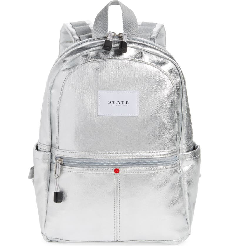 STATE BAGS Downtown Mini Kane Canvas Backpack, Main, color, SILVER