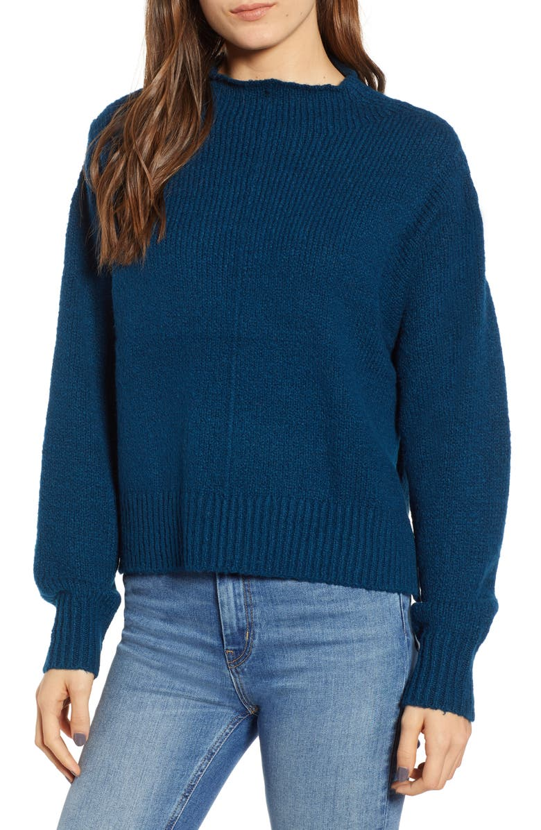 LEITH Fuzzy Side Slit Sweater, Main, color, 401