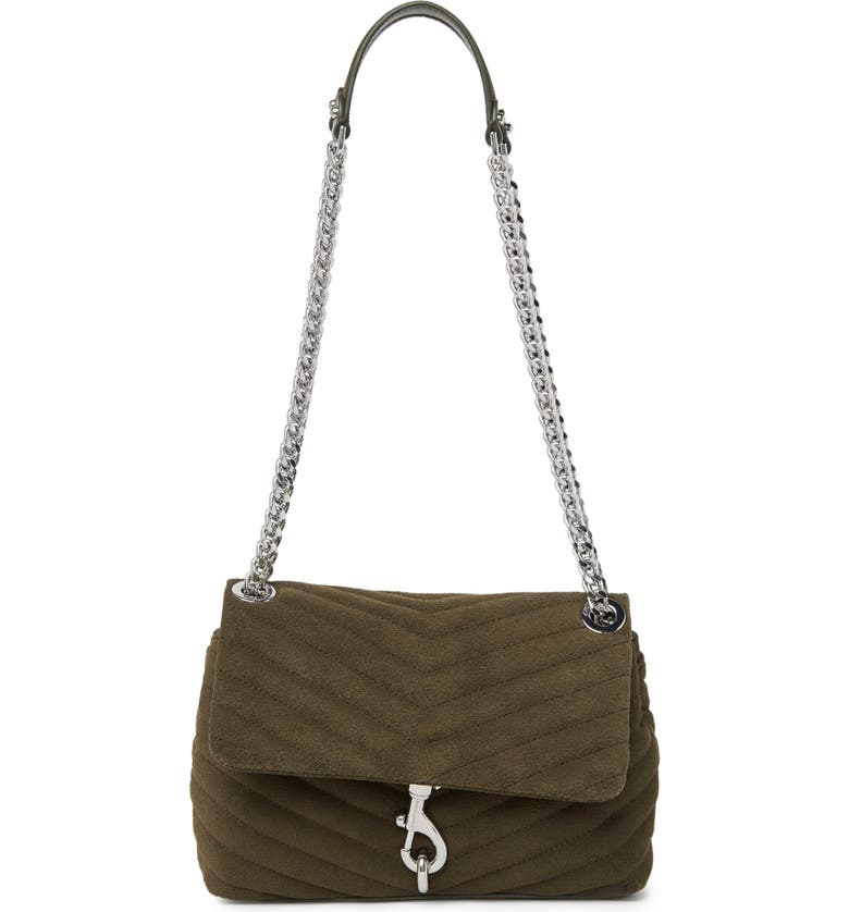 REBECCA MINKOFF Edie Quilted Crossbody Bag, Main, color, GREEN OLIVE