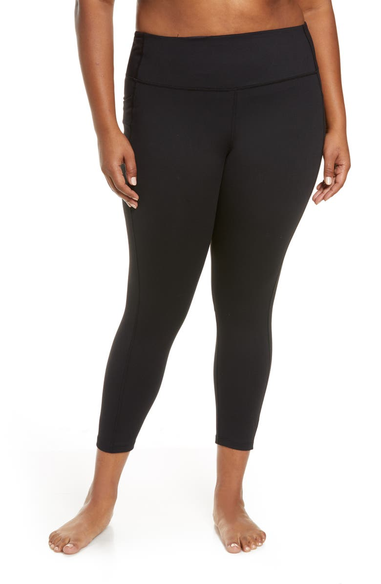 ZELLA High Waist Live In Pocket 7/8 Leggings, Main, color, 001