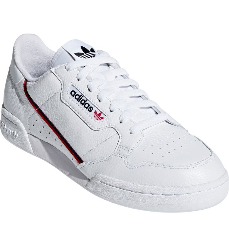 ADIDAS Continental 80 Sneaker, Main, color, WHITE/ SCARLET