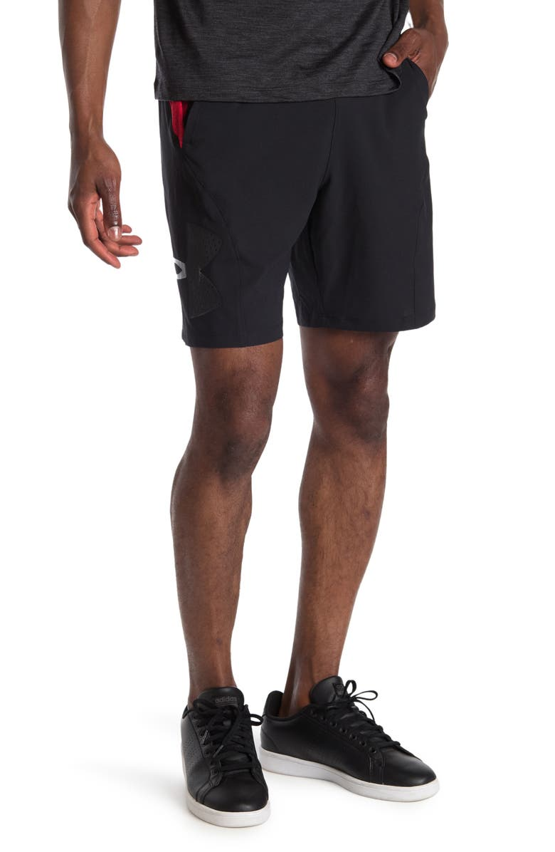 UNDER ARMOUR Vanish Woven Graphic Shorts, Main, color, BLACK 001