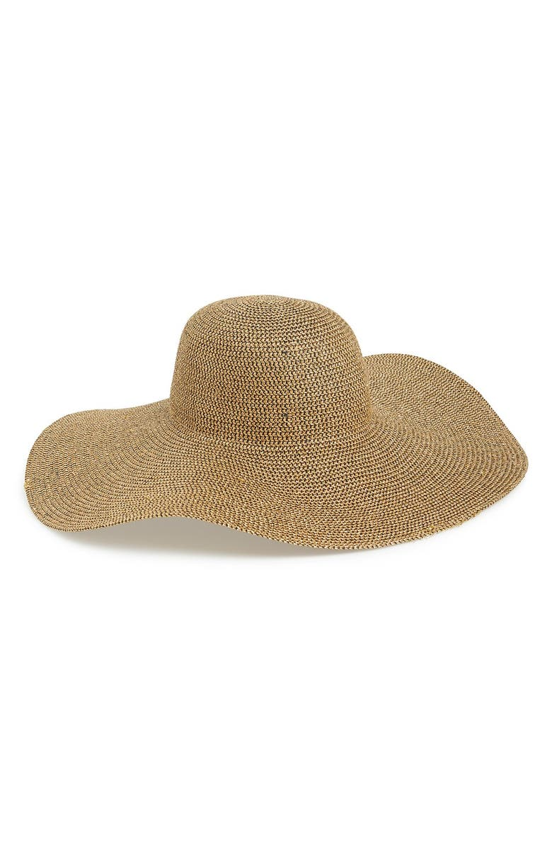 PHASE 3 Metallic Floppy Straw Hat, Main, color, NATURAL