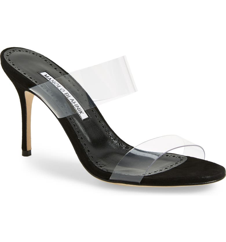 MANOLO BLAHNIK Scolto Transparent Strap Sandal, Main, color, 001