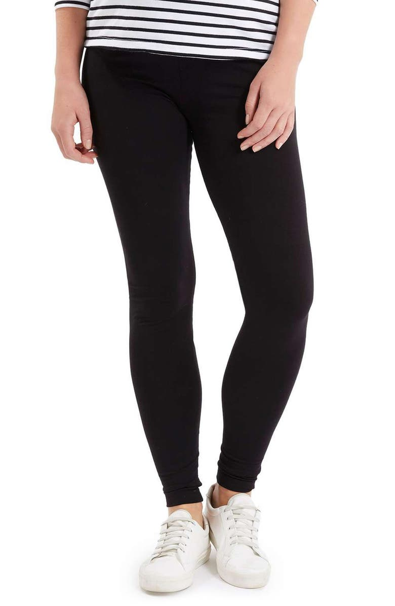 TOPSHOP Ankle Maternity Leggings, Main, color, 001