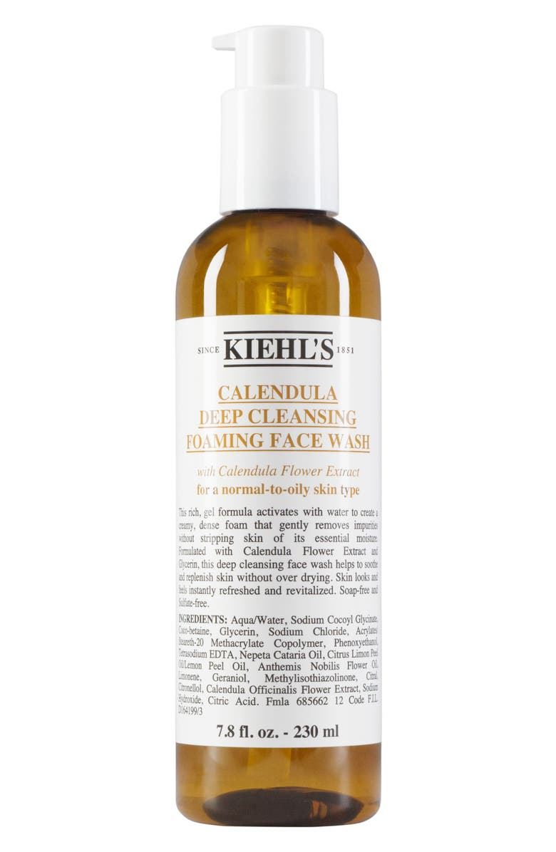 KIEHL'S SINCE 1851 Calendula Deep Cleansing Foaming Face Wash for Normal-to-Oily Skin, Main, color, NO COLOR