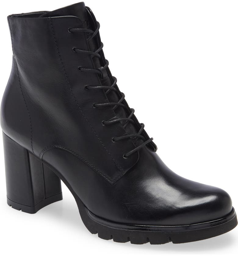 PAUL GREEN Erin Combat Boot, Main, color, BLACK LEATHER