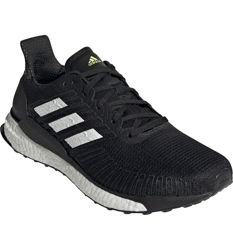 ADIDAS Solarboost 19 Running Shoe, Main, color, BLACK/ WHITE