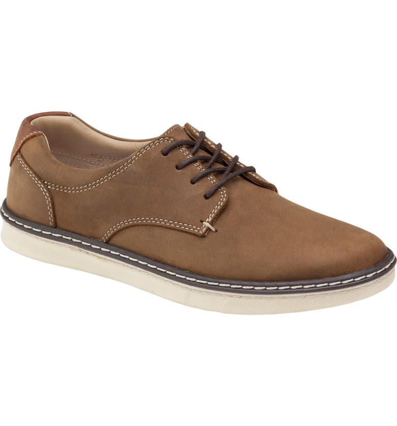 JOHNSTON & MURPHY Kids' McGuffey Plain Toe Derby, Main, color, BROWN OILED NUBUCK