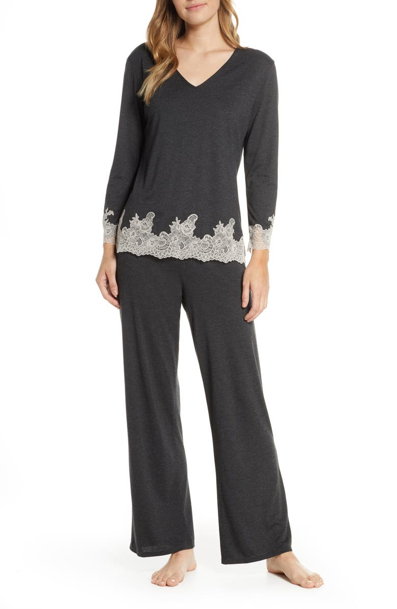 NATORI Luxe Shangri-La Pajamas, Main, color, ACO ANTHRACITE