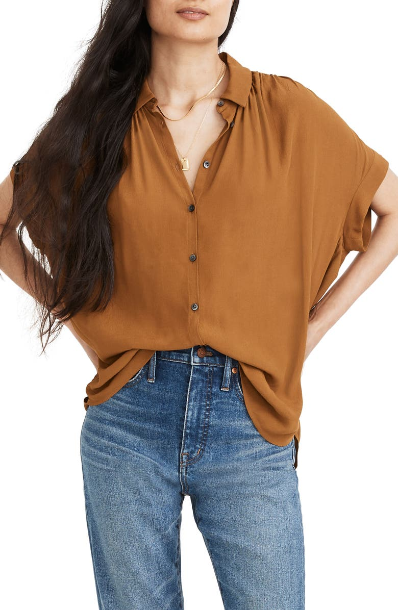 MADEWELL Central Drapey Shirt, Main, color, 200