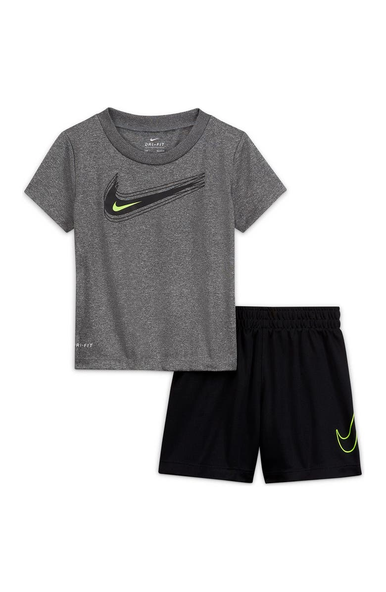 NIKE NKB Value Tee & Shorts 2-Piece Set, Main, color, TRENCHED