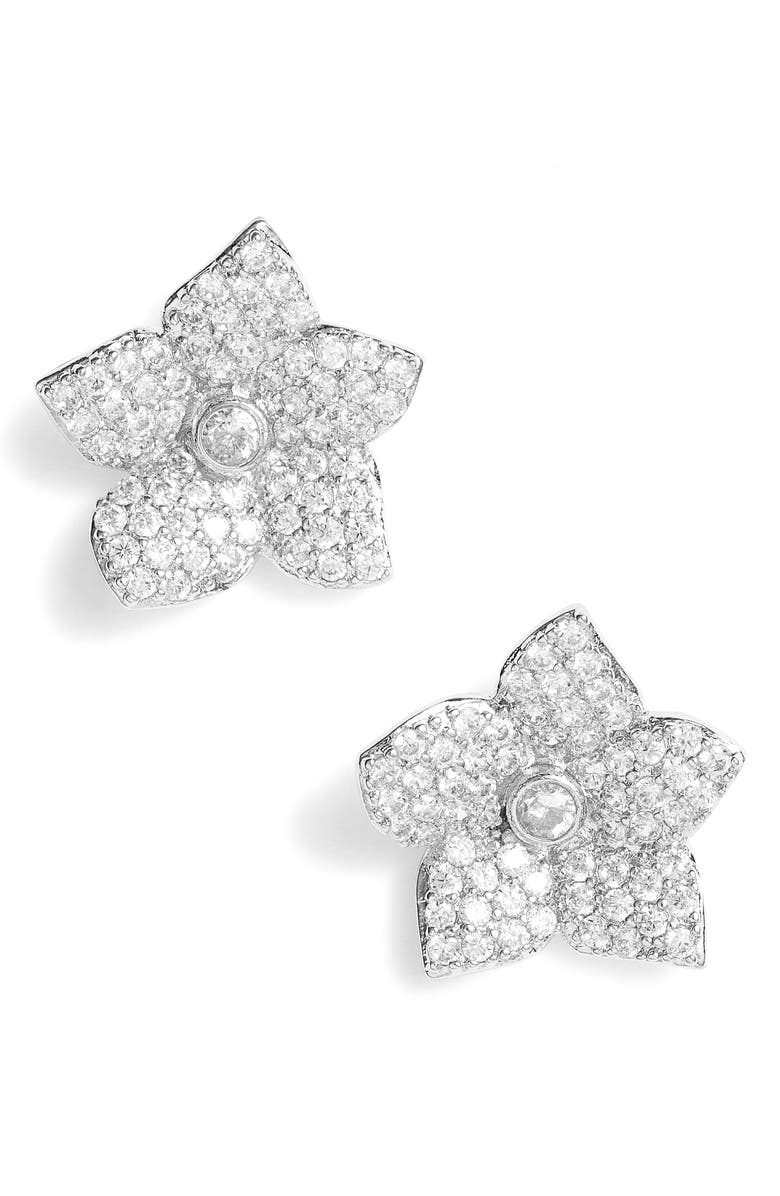 KATE SPADE NEW YORK Kate Spade Blooming Pavé Stud Earrings, Main, color, 041