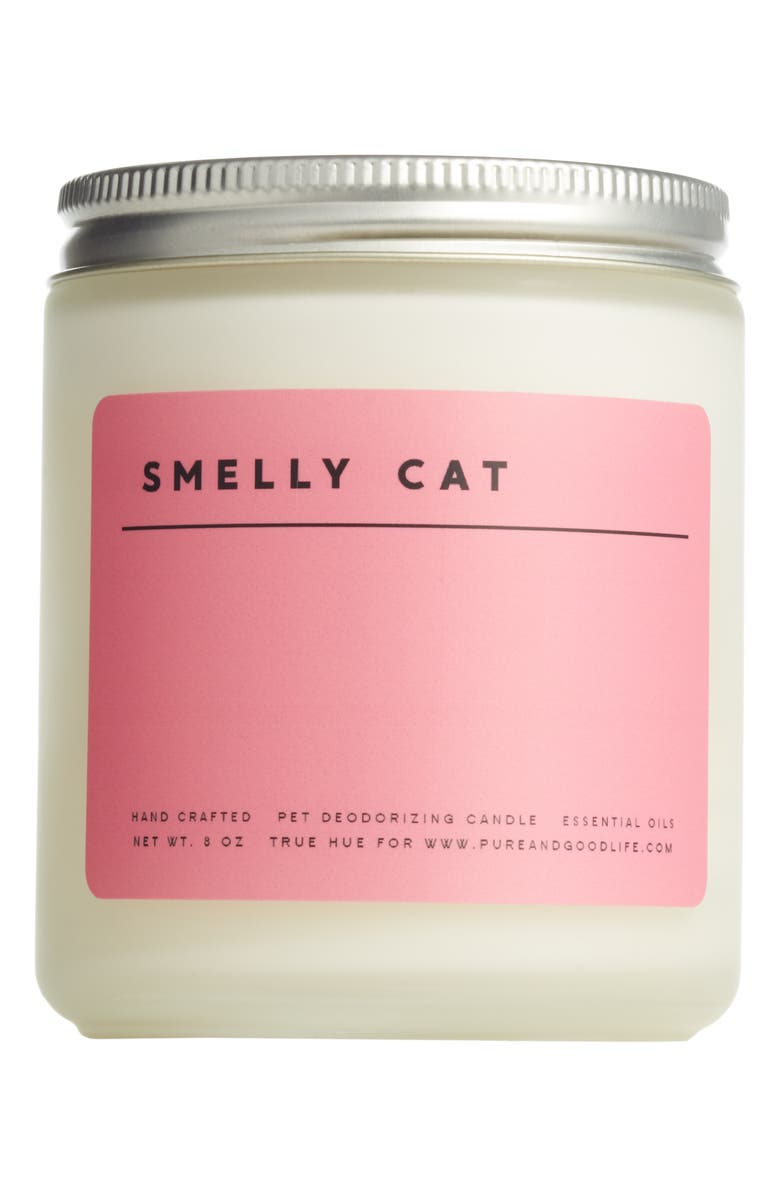 PURE + GOOD Smelly Cat Pet Deodorizing Soy Wax Candle, Main, color, 650
