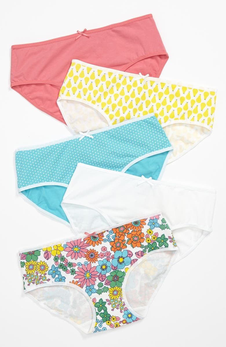 TUCKER + TATE Kids' 5-Pack Hipster Briefs, Main, color, FRUIT PACK
