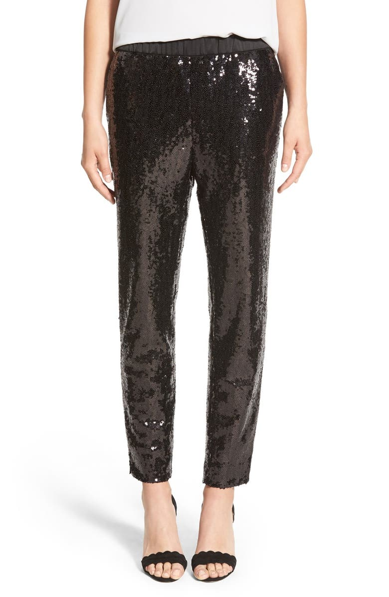 CHELSEA28 Sequin Pants, Main, color, 001