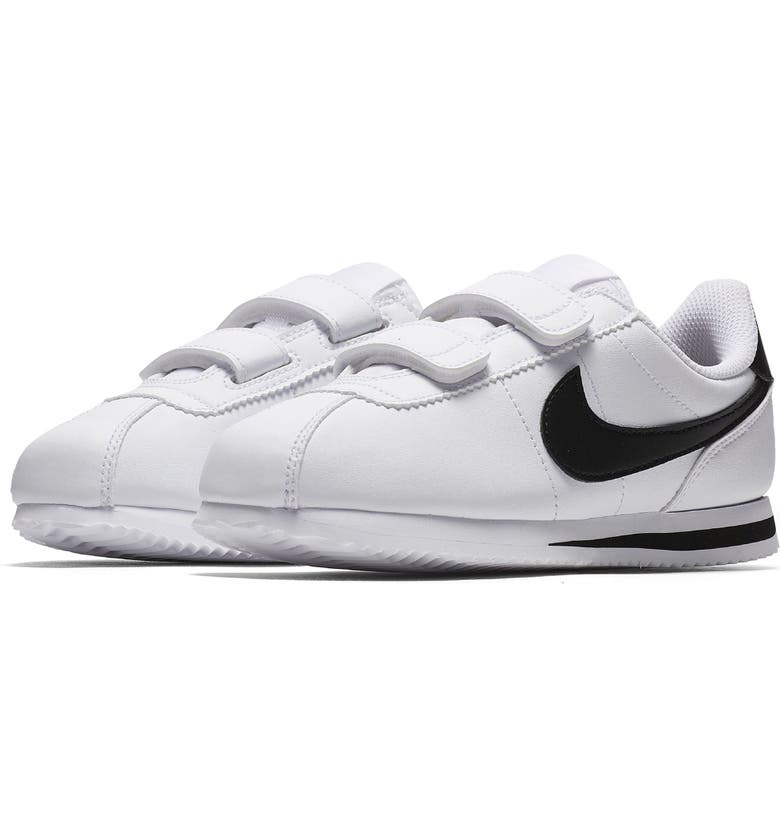 NIKE Cortez Basic SL Sneaker, Main, color, WHITE/ BLACK