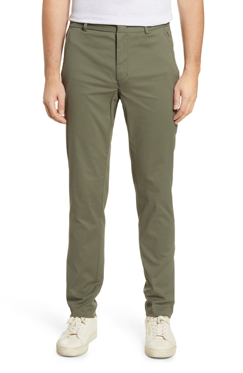 TOMMY JOHN Go Anywhere Water Repellent Performance Pants, Main, color, SHADOW GREEN