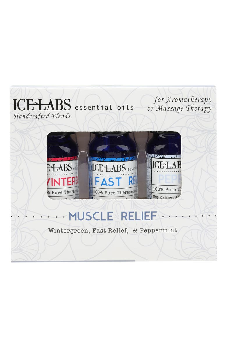 VIVITAR Muscle Relief Essential Oil - Set of 3, Main, color, CLEAR