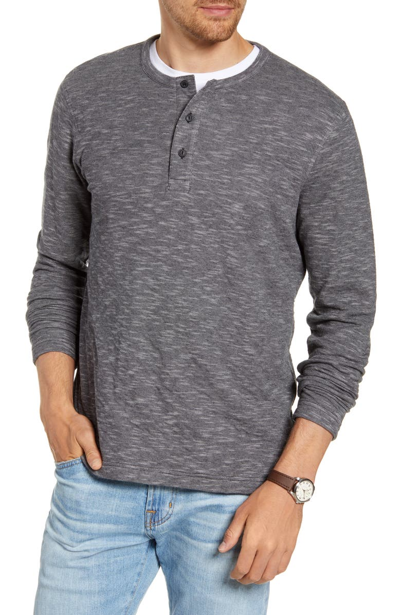 1901 Duofold Cotton Blend Henley, Main, color, 001