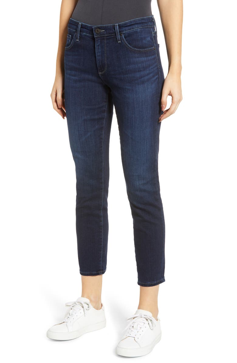 AG The Prima Mid Rise Crop Cigarette Jeans, Main, color, CONCORD