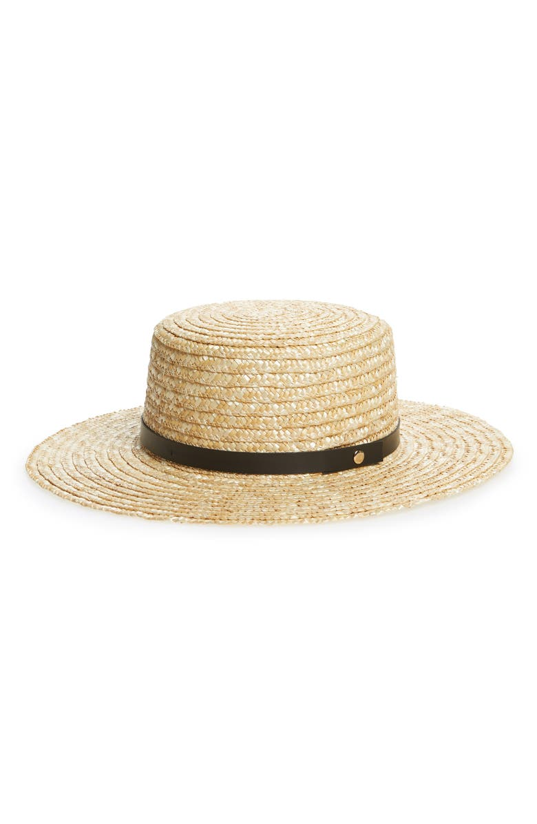 SOLE SOCIETY Wide Brim Straw Boater Hat, Main, color, NATURAL