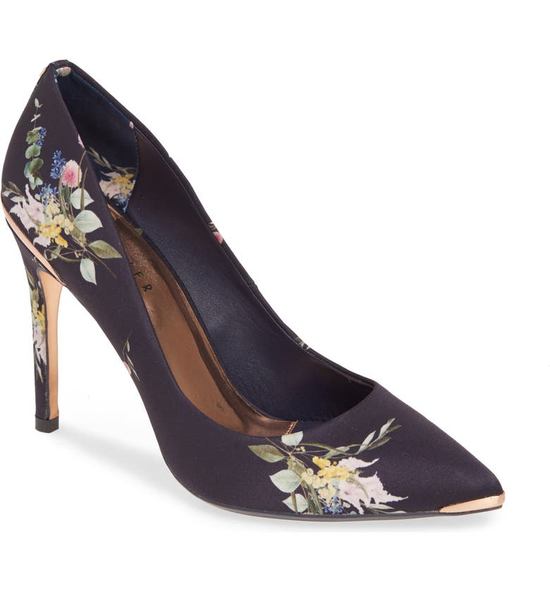 TED BAKER LONDON Izibelp Floral Pointy Toe Pump, Main, color, 410