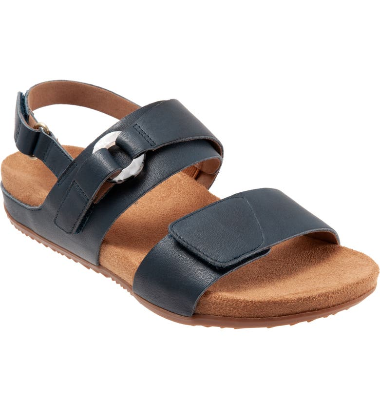 SOFTWALK<SUP>®</SUP> Benissa Sandal, Main, color, NAVY LEATHER