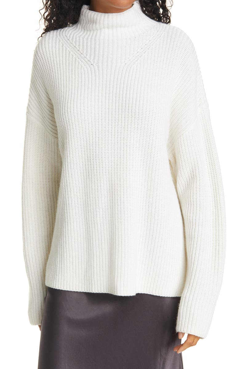 RAILS Claudia Oversize Shaker Stitch Sweater, Main, color, IVORY