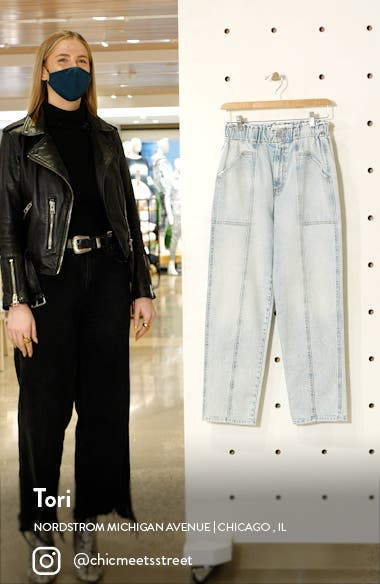 The Springy High Waist Ankle Straight Leg Jeans, sales video thumbnail