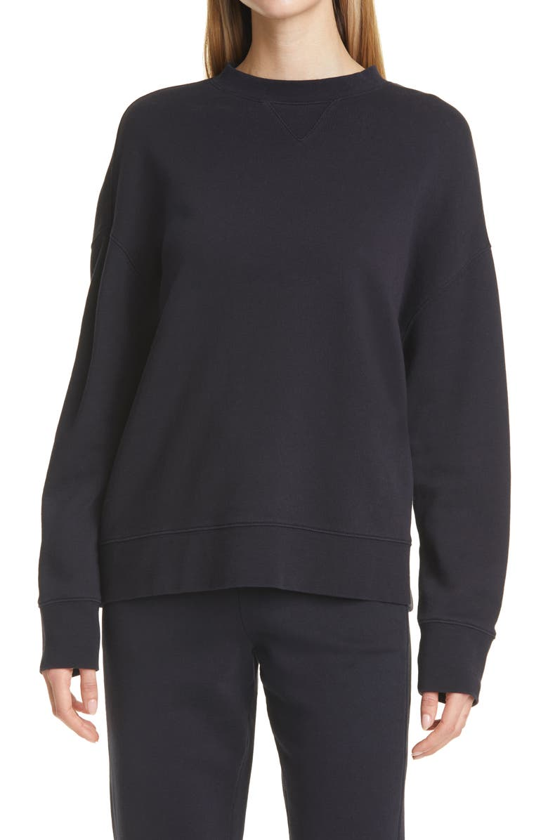 VINCE Essential Relaxed Cotton Sweatshirt, Main, color, COSTAL