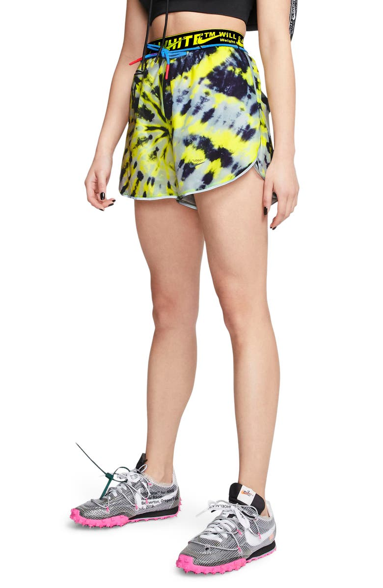 NIKE x Off-White Tie Dye Running Shorts, Main, color, 702