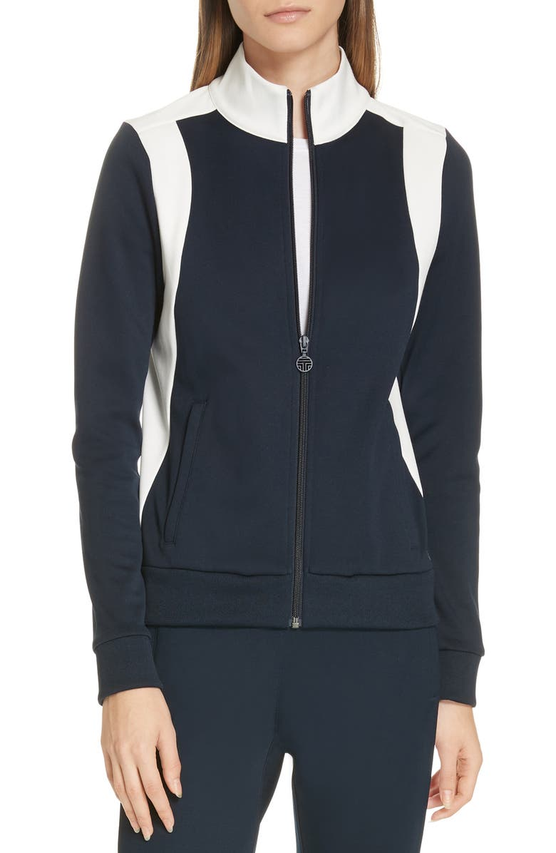 TORY SPORT BY TORY BURCH Colorblock Track Jacket, Main, color, 474