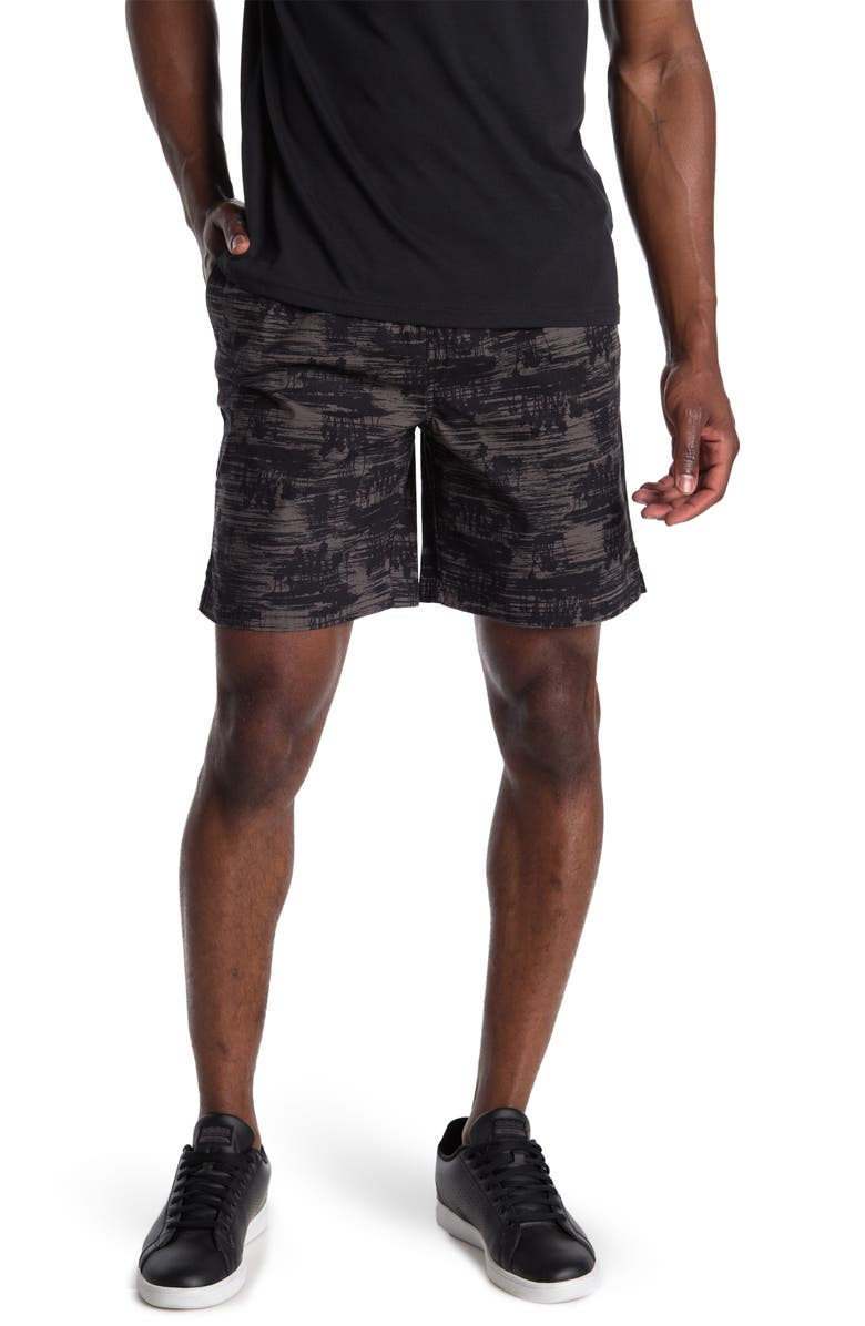 """ABOUND 7"""" Printed Ripstop Shorts, Main, color, BLACK PALM PRINT"""