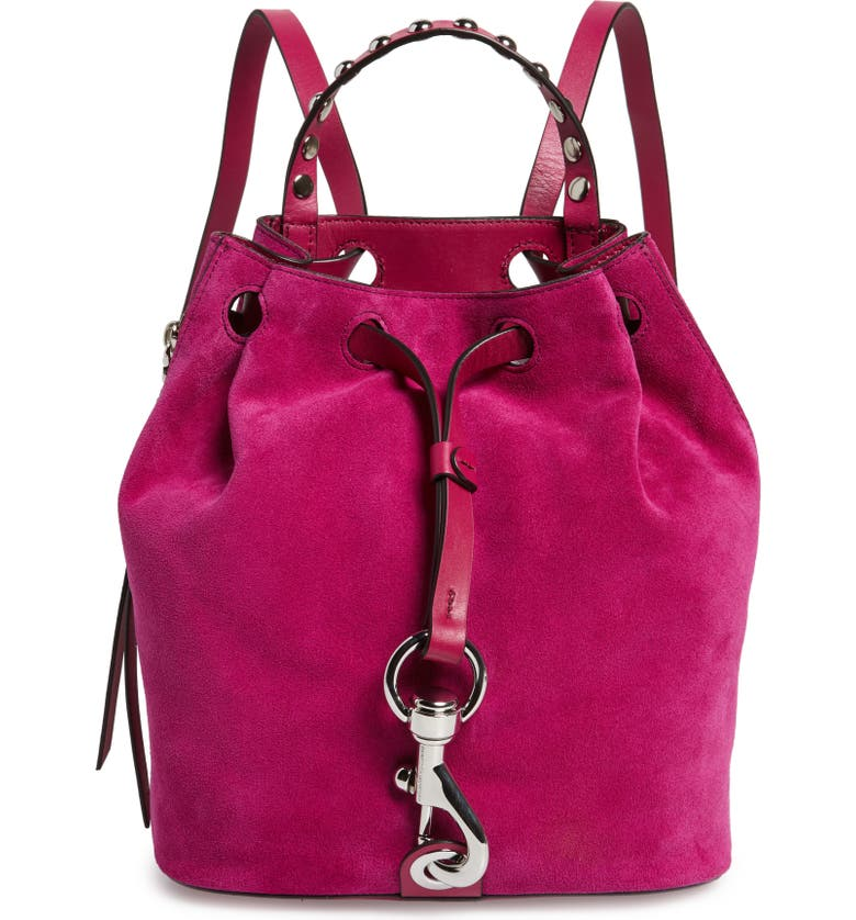 REBECCA MINKOFF Small Blythe Leather Backpack, Main, color, 650