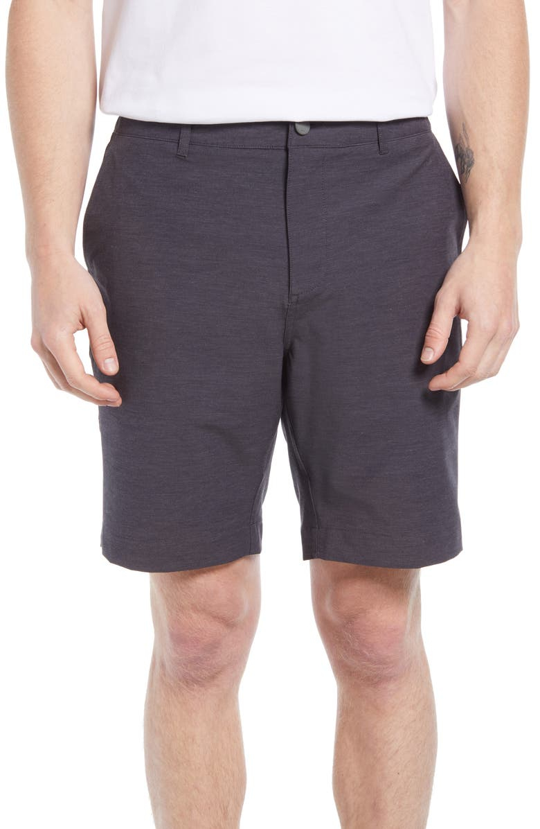 FAHERTY Belt Loop All Day Hybrid Shorts, Main, color, CHARCOAL